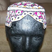 Balochi Sindhi mirrored Hand Embroidered Kufi Mens Hat/Cap Topi Traditional