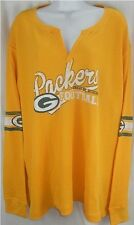 Green Bay Packers NFL Women's JLS Long Sleeve V Neck Thermal Shirt Plus Sizes