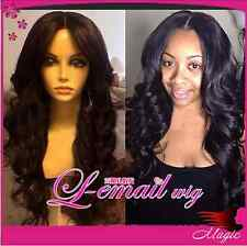 Custom 100% Soft Indian Remy Human Hair Loose Wave Full Lacewig /Lace Front Wig