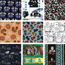 New! Classic Movie Music & TV Quilting Fabric Remnants - Rare - Assorted Styles
