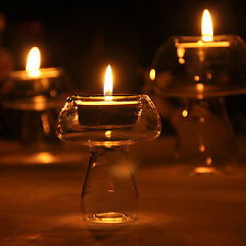 Set of 4 Crystal Glass Candle Holder Wedding Home Decor Party Table Centrepiece