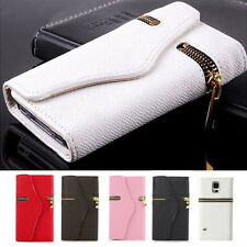 PU Leather Hybrid Flip Zipper Wallet Case Cover For Samsung Galaxy S5/S4/S3 Note