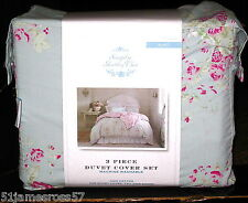 Simply Shabby Chic Faded Paper Rose King Duvet Set