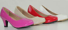 New Girls Pumps Heels Stiletto Shoes Pageant Party Fuchsia Beige Red White