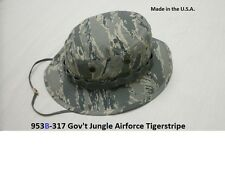 Military Boonie Hat Air Force Tiger Stripe Camo GI Jungle Hat Made In The U.S.A