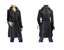 Belted Piping Double-Breasted Trench Coat