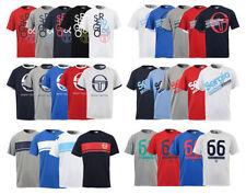 New Men's Sergio Tacchini Printed T-Shirt Short Sleeve Casual Graphic Top Tee