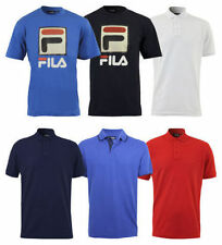 New Mens Fila Jersey Cotton Button Up Logo Polo T-Shirt Top Casual Size  DD2