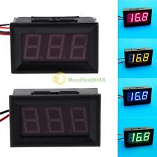 A1ST New Direct Current 2 Wires 0.56 Inches LED Voltmeter Panel Mini Volt Meter