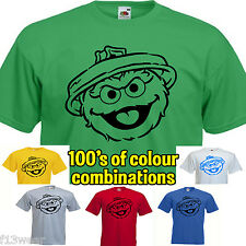 OSCAR THE GROUCH  SESAME STREET MENS T SHIRT TV RETRO MUPPETS  BIG BANG THEORY