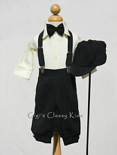 New Baby Boys Black & Ivory Knickers Outfit Vintage Suit Christmas Easter Set