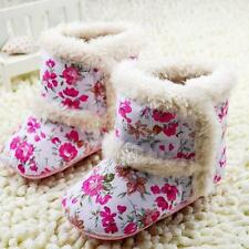 Infant Kids Girl Winter Baby Boots Floral Warm Thick Snow Boots Shoes 0-18M BOk