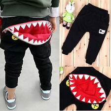 Kids Boys Girls Unisex Mouth Harem Trousers Cute Toddlers Pants Size 2-7 Years