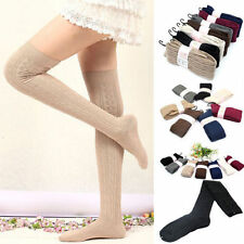 Women Lady Knitting Cotton Over Knee Thigh Stockings High Socks Pantyhose Tights