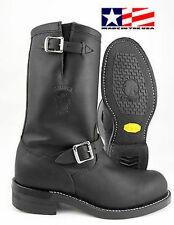 CHIPPEWA BLACK OILED LEATHER STEEL TOE ENGINEER BOOT MADE IN THE USA 27863