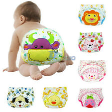 Cotton Reuseable Baby Diaper Pants Waterproof Covers Day Time Training Pullups