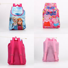 Frozen Princess Peppa Pig Schoolbag Backpack Storage Drawstring Bag Kids Gift