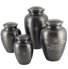 Paw Prints Engravable Pet Cremation Urn - 4 Size Choices