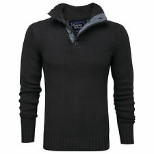 Charles Wilson Men's 100% Cotton Button Neck Jumper Sweater New 2014