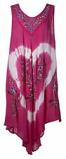 Gravity Threads Tye Dye Floral Heart Elegance Dress
