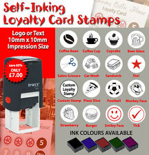 Custom Made Self Inking Loyalty Card Rubber Stamps