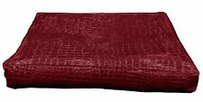 pd1006t Deep Red Faux Crocodile Glossy Leather 3D Box Sofa Seat Cushion Cover