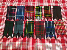 H,M MENS KILT HOSE SOCK FLASHES/KILT FLASHES VARIOUS TARTAN/KILT FLASHES TARTAN