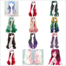 """13 colors 28"""" Long Multi-color Curly hair Wigs Fashion Lolita Cosplay Women Wig"""