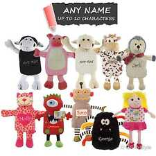 PERSONALISED Novelty Animal Hot Water Bottle & Cuddly Cover Name EMBROIDERED