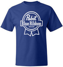 PABST BLUE RIBBON Milwaukee Beer Party Drink Game T-shirt Soft Cotton by Hanes