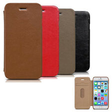 New arrive genuine leather phone case Card Pocket flip folio cover for iphone 6