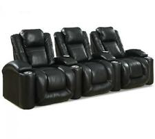 Octane Regal XL650, Row of 3 in Black Leather