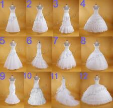 Bridal Hoop Skirt  Wedding Petticoat Accessories Crinoline Slip White
