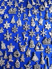 CHRISTMAS Tibetan Silver Pendants and Charm Beads ~ Jewellery Making Crafts