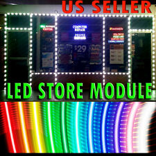 STORE FRONT WINDOW INDOOR OUTDOOR LED MODULE INSTALLED LIGHTS SIGN BAR NEON RGB