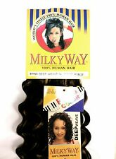 "SHAKE N GO MILKY WAY 100% HUMAN HAIR DEEP WEAVE 12"" DEEP WAVE WEAVING HAIR"