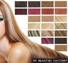 21 Color Clip in 100% Salon Remy Human Hair Extensions Blonde Brown Burgundy