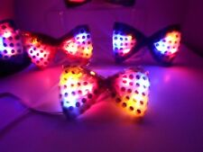 """NEW Bowties 4.5"""" Sequined Blinking Flashing Headband , for All Ages !! 6 Colors"""