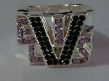 HIS HAND IN MINE   Elvis Tribute Artist Ring Stainless Steel CZ Stones
