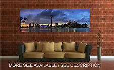 Wall Art Canvas Print Picture Toronto Skyline, Clouds Panoramic View-Unframed