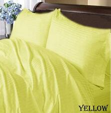YELLOW STRIPE 1000TC COMPLETE USA SHEET / DUVET SET 100%COTTON CHOOSE SIZE ITEMS