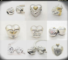Love Mum /Mom my Wife It's A Girl Happy Anniversary Heart sterling silver Charms