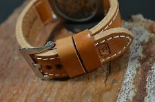 MA WATCH STRAP 26 MM GENUINE CALF BAND F.PANERAI HANDMADE SPAIN MALAGA II-WALNUT