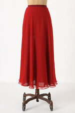 NWT Anthropologie Unfettered Burgundy Silk Maxi Skirt Amazing 5 Stars Size S M L