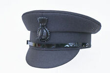 Quality GREY Formal Traditional Satin Lined Chauffeurs Driver Cap With Cockade