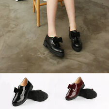 Modern School Butterfly Knot Flats & Oxfords Shoe Womens Round Head Shoes