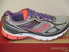 SAUCONY GUIDE 7 (SILVER/COR/PURPLE) WOMENS RUNNING (WIDE WIDTH)