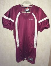 NEW Mens Sz L NIKE Crack Back Game Mesh Card Red White Football Jersey Practice