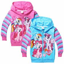 My Little Pony Cool Kids Boys Girls Funny Zipper Hoodies Coat Clothing 3-8Years