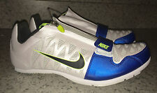 NEW Mens NIKE Zoom LJ 4 Long Jump Pole Vault Track Field Shoes White Blue 13 15